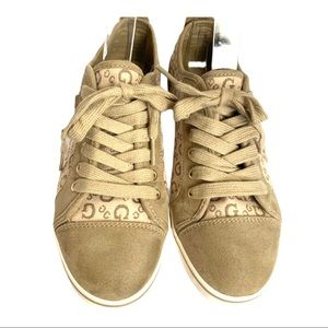 GUESS Tan Suede Sneakers Shoes - 7.5